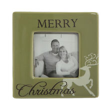 Merry Christmas 2 inch x 2 inch Ceramic Photo Frame - home living collection