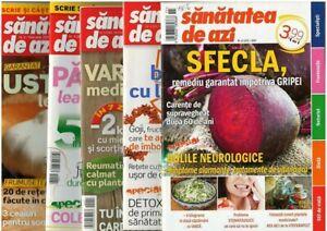 Romanian health magazines Sanatatea de azi, lot of 4, 2009-2019