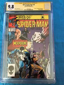 Web of Spider-man #29 - Marvel - CGC SS 9.8 NM/MT - Signed by Steve Geiger