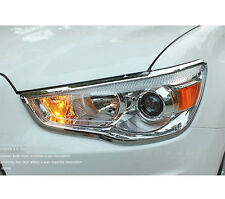 FIT FOR 10- MITSUBISHI ASX CHROME FRONT HEADLIGHT COVER LAMP HEAD LIGHT TRIM