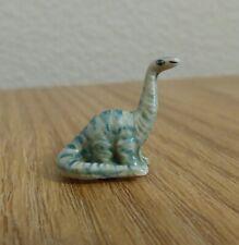 Vintage Hand-Painted Mini Dinosaur Ceramic Figurine Brontosaurus/Apatosaurus