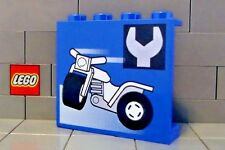 LEGO: Panel 1 x 4 x 3 with Tricycle and Wrench Pattern (#4215bpx26)