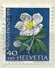 posted 4th June - 1958 swiss stamp  - Pro Juventute - see scan for details