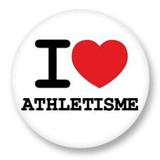 Magnet Aimant Frigo Ø38mm ♥ I Love You j'aime Sport Athletisme