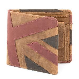 Union Jack 100% Genuine Leather Wallet for Men   Bi Fold   Coin Pocket