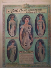 1910 Vintage Newspaper Nemo Self-Reducing Corsets Izola Forrester The Halo