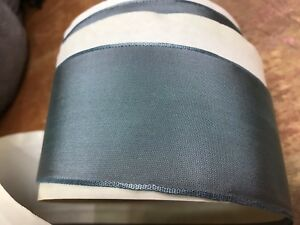 "Vintage French Ribbon Acetate 2"" Bluish Gray 1yd Made in France"