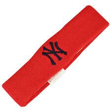 MLB New York Yankees Thick Headband Sweatband Red Blue 2 Piece Set Gym Stretch