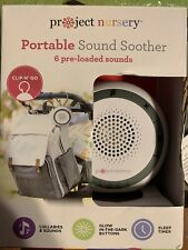 New listing Project Nursery Portable Sound Soother Lullabies for Baby Clip & Go Tested Works