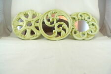 3 Mirrored Wall Decor Sculptures Off White Gothic Style Shabby Country Chic