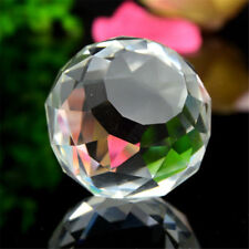 Clear Cut Crystal Sphere 30mm Faceted Gazing Ball Home Decor