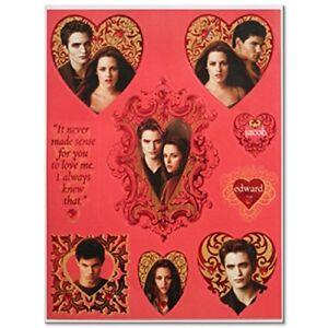 Twilight Saga Themed Heart Shaped Stickers with Bella, Edward & Jacob