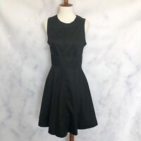 French Connection NWT Black Fit & Flare Sleeveless Dress Size 4 Style 71B7Z