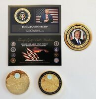 Trump Golf Ball Marker... Sniper...One Shot..One Kill .... 24K Gold Plated Coin