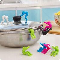 2 Pcs New Silicone Holder Cooking Gadget Spill-proof Lid Kitchen Chopsticks Rest