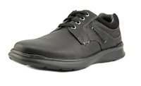 Clarks Men's Cotrell Plain Toe Oxford Lace-Up Black Leather Dress Casual Shoe 14