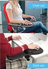 Computer Armrest Adjustable Arm Wrist Rest Support mouse pad for desk /chair