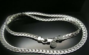 """Fancy Chain 20"""" Solid Silver 925 Width 8mm 15g"""