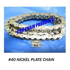 Yerf Dog, Murray, Go Kart Chain, 40 X 70 Links Nickel Plate  WOW NICE