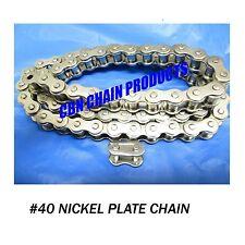 Yerf Dog, Murray, Go Kart Chain, 40 X 70 Links Nickel Plate  WOW NICE