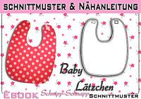 pdf.Schnittmuster und Nähanleitung Baby Latz / Lätzchen