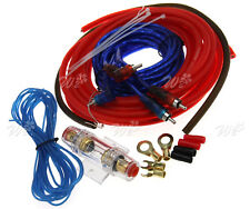 800W 8 Gauge Car Wiring Fuse Audio Amp Sound Amplifier Installation Cable Kit