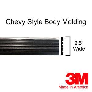 Chevy Suburban Silverado Body Molding Chrome / Black Side Trim - By Brickyard
