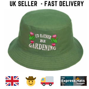 Unisex  cotton 'I'd Rather be Gardening'🌻 bucket hat FAST DELIVERY!!! 🚚