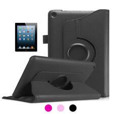 Funda Libro Smart Cover Soporte PU Microfibra Giratorio 360º para iPad 2/3/4