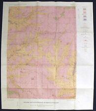 Usgs Wisconsin Platteville Lead Zinc Vintage 1963 Report With Original Map!