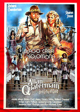 KING SOLOMON'S MINES CITY OF GOLD 1986 CHAMBERLAINE/ .STONE EXYU MOVIE POSTER