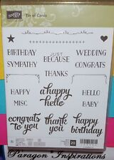 NEW Stampin Up TIN OF CARDS Photopolymere Birthday Thanks Sympathy Congrats