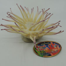 Penn Plax Large Anemone Cream Lavender Tips Aquarium Reeflife RL22