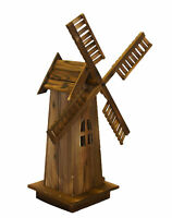 Wooden Dutch Windmill Back Yard Decorations - Classic Old-fashioned Windmill