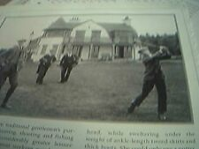 ephemera 1999 reprint picture clubhouse hindhead golf club surrey 1907 teeing of