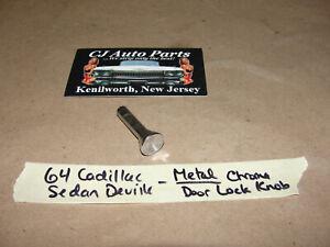OEM 1964 Cadillac Deville CHROME METAL DOOR LOCK KNOB PULL