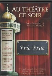 Au Theatre Ce Soir Dvd Fric Frac Edouard Bourdet Jean Le Poulain JP Darras
