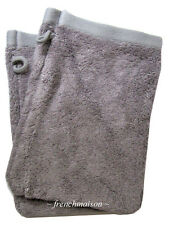 2 Garnier Thiebaut Gant Mitt Face FRENCH TOWEL Antibacterial Soft PEARL Gray New