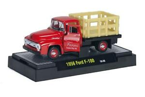 1956 Ford F-100 Rouge, M2 Machines (At 15) 1:64, Neuf, Emballage D'Origine