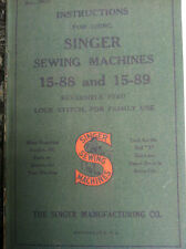 SINGER MODELS 15-88 and 15-89 SEWING MACHINE INSTRUCTION BOOK