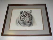Charles Frace White Tiger Print, Signed