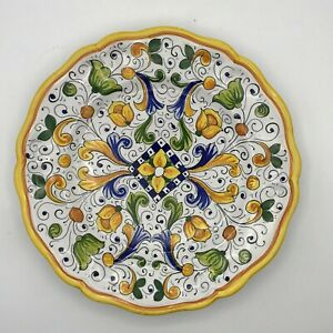 Hand Painted Italian Dinnerware by Rale 2008 Yellows Blues Greens Floral Design