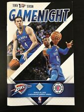 Oklahoma City Thunder vs Los Angeles Clippers Program 3/16/18 Russell Westbrook