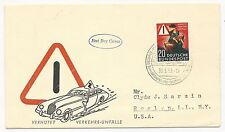 Germany Scott #694 First Day Cover 1953 to NY USA Car Cachet