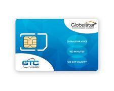 Téléphone satellite globalstar 100 unités prépayée avec 120 jours validité recharge