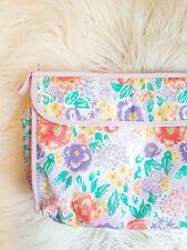 Retro Vintage Styled 80s 90s Floral Pastel Sponge Bag Makeup Bag