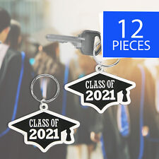 Class of 2021 Grad Rubber Key Chains - Party Favors - Party Supplies 12 Pieces