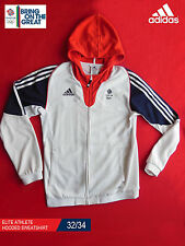ADIDAS TEAM GB ISSUE - ELITE ATHLETE HOODED SWEATSHIRT - SIZE 32/34