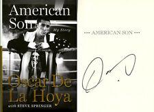 Oscar De La Hoya SIGNED AUTOGRAPHED American Son HC 1st Ed 1st Print Golden Boy