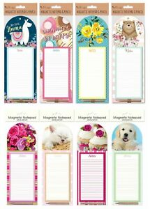 Magnetic Shopping List Pad Notepad & Pencil To Do List Fridge Magnet New